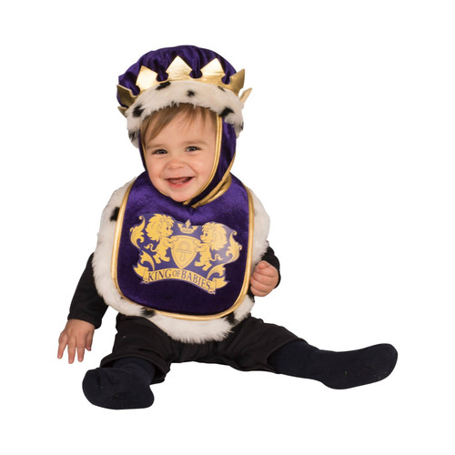 King Infant Purple Royal Bib Costume - 12M