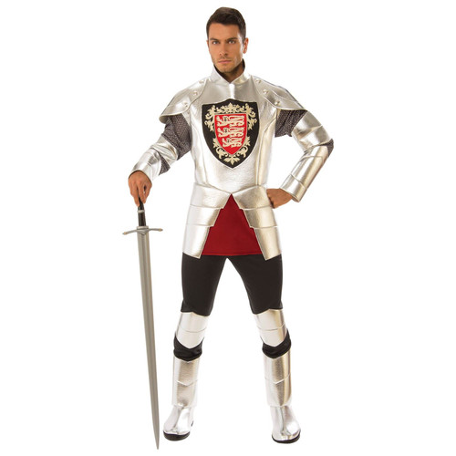 Mens Silver Knight Costume - Standard