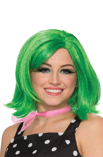 Green Disgust Pixie Wig Inside Out