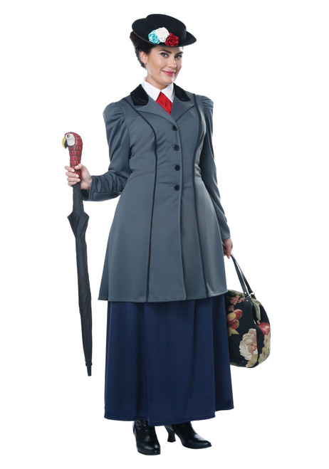 Womens English Nanny Mary Poppins Costume