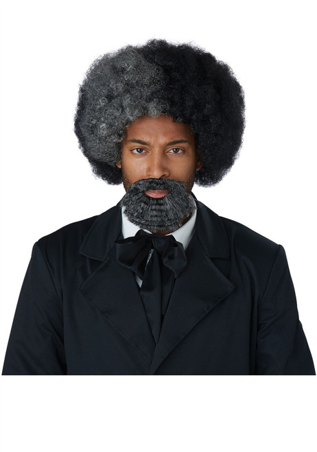 Frederick Douglass Men's Wig And Goatee - Adult Size