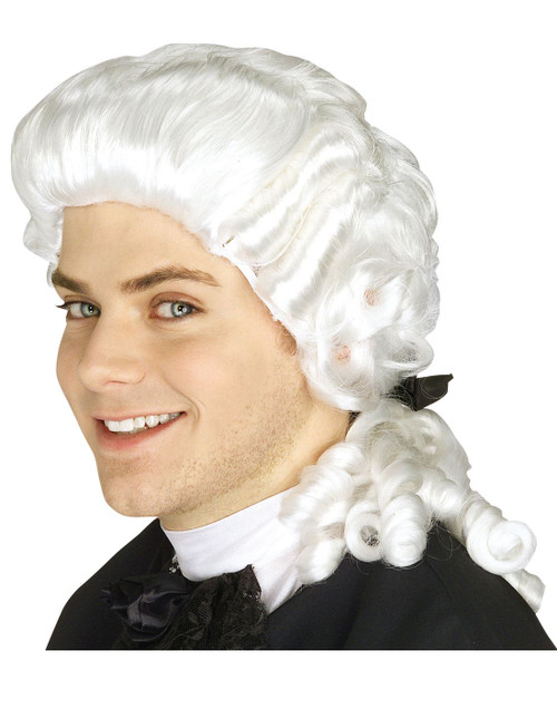 COLONIAL WIG judge renaissance ghost george washington costume accessory