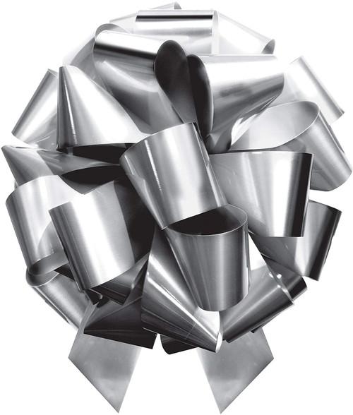 MasterBow IncrediBow Jumbo Flat Pull Bow 20-Inch Silver Metallic
