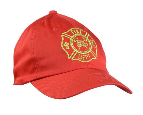 Jr. Fire Fighter Red Cap Costume Accessory Hat