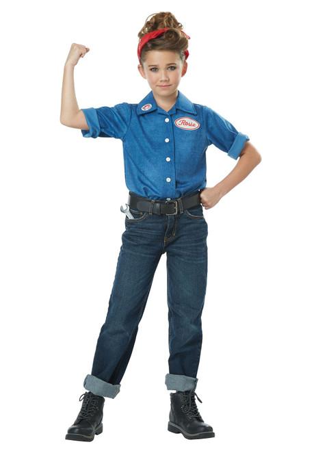 Rosie the Riveter Costume for Girls