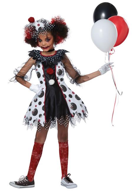 Creepy Clown Costume for Girls
