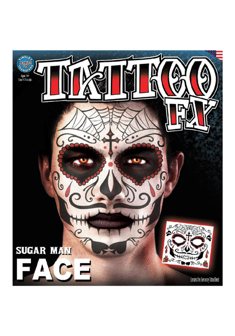 Sugar Man Face Tattoo FX Kit
