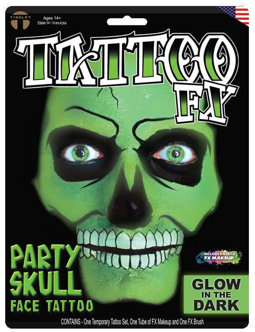 Glow in the Dark Party Skull