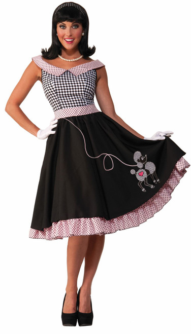 1950s Checkered Dress Adult Costume
