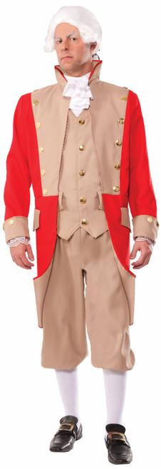 British Red Coat Uniform Adult Mens Halloween Costume