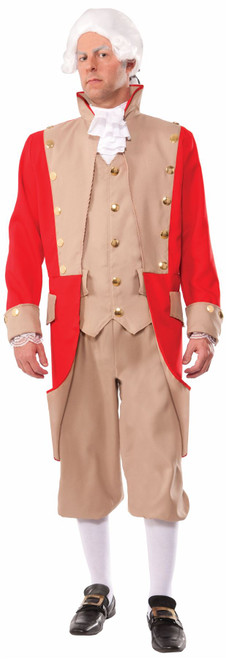 British Red Coat Uniform Adult Mens Halloween Costume