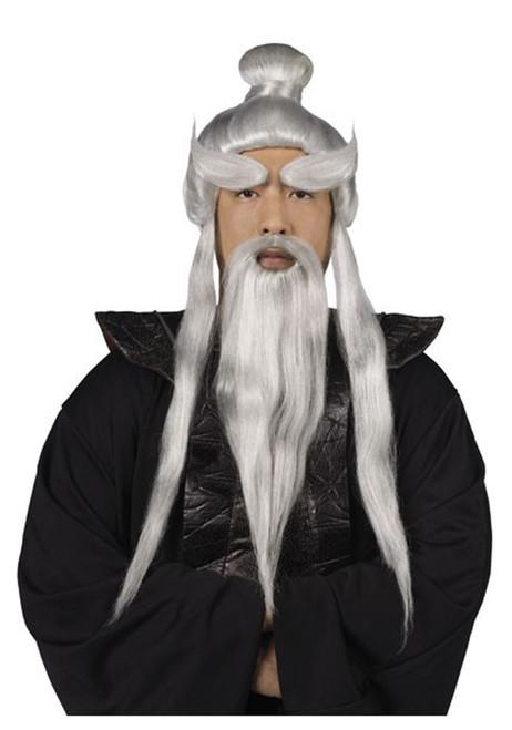 Sensei Wig and Beard Set Costume Accessory