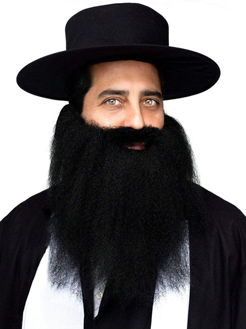 Pirate Rabbi Arab Padre Crimped Beard Moustache Mustache Costume Accessory