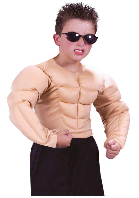 Fun World Boys Bodybuilder Muscle Shirt Kids Halloween Costume