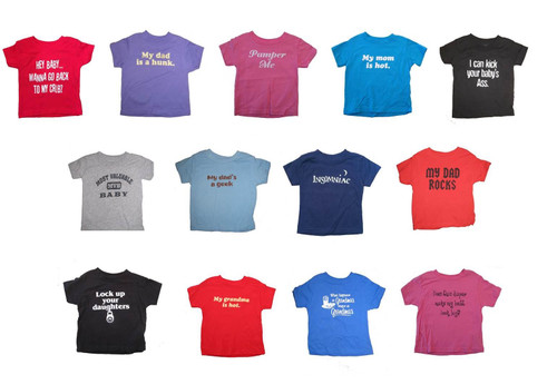Funny Sayings Baby Shirts