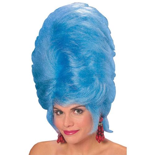 Adult Beehive Wig Blue