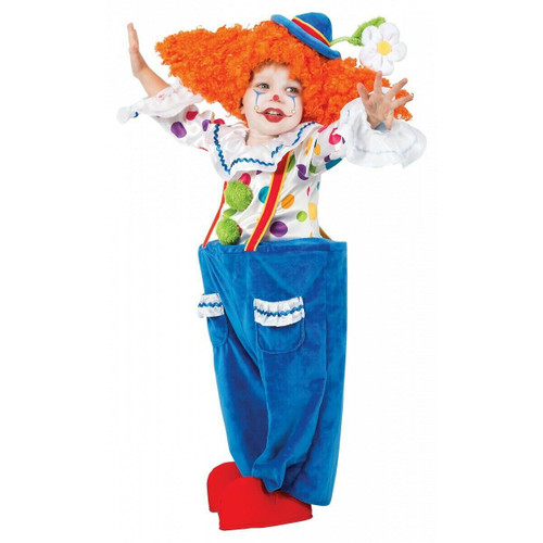 Colorful Circus Clown Toddler Costume