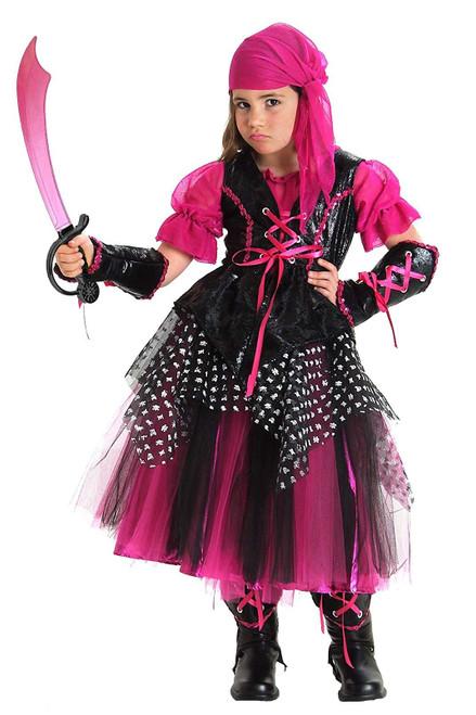 Girls Pink Caribbean Pirate Costume
