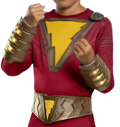 Shazam Superhero Movie Light Up Child Dc Costume Belt Gauntlet Set
