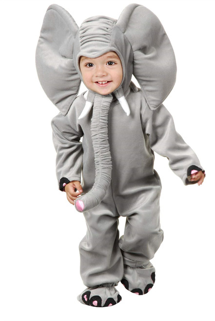 Little Elephant Grey Costume Jumpsuit Child Animal Girls Boys Kids