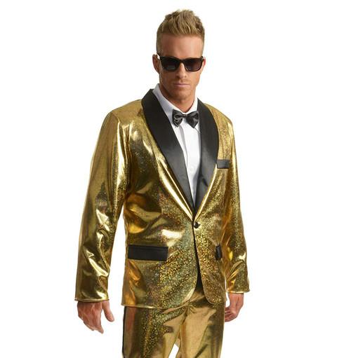 Mens Gold Disco Ball Tuxedo Jacket Only