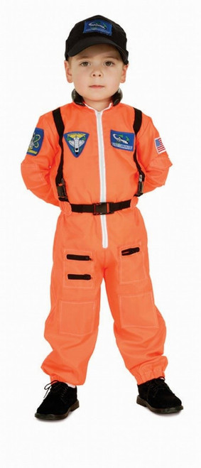 ASTRONAUT space suit orange uniform NASA boys kids halloween costume SMALL  4-6