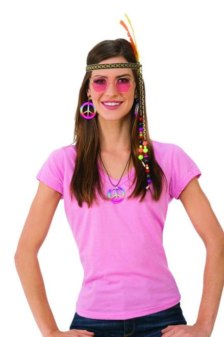 Deluxe Female Hippie 70S Costume Kit