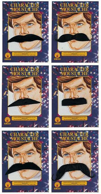 Moustache Assortment - 6 Styles