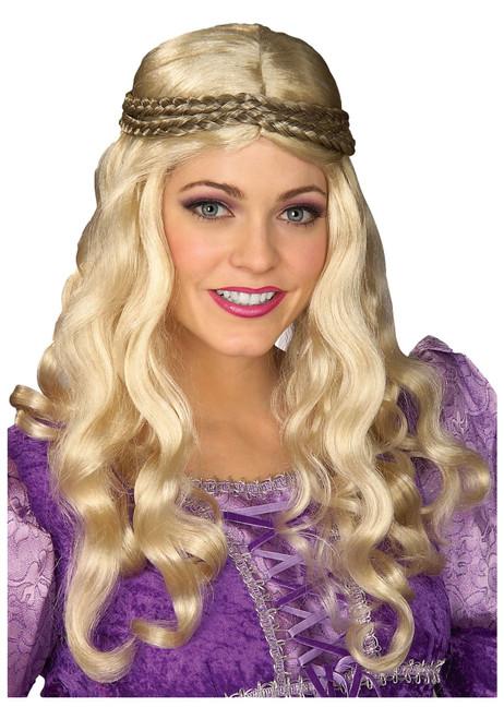 Blonde Renaissance Girl Adult Wig