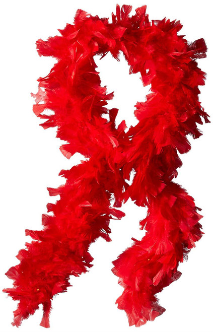 Red Feather Boa Costume Accessory 133 gram