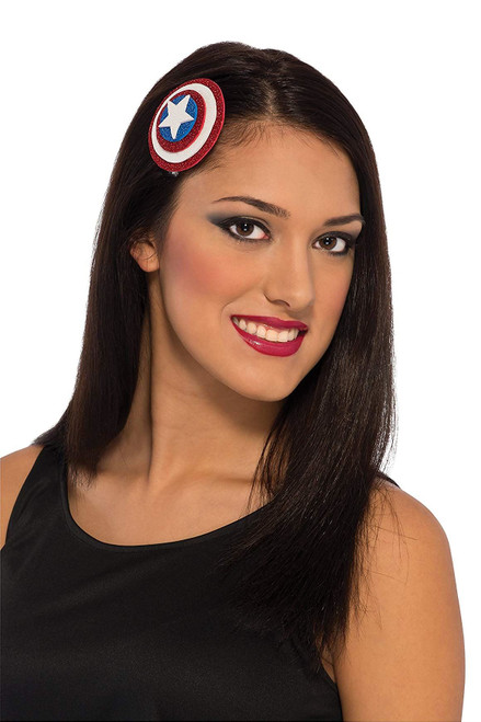 Childs Girls American Dream Captain America Comb Costume Accessory