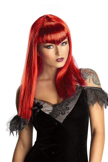Glitter Vamp Costume Wig Adult One Size
