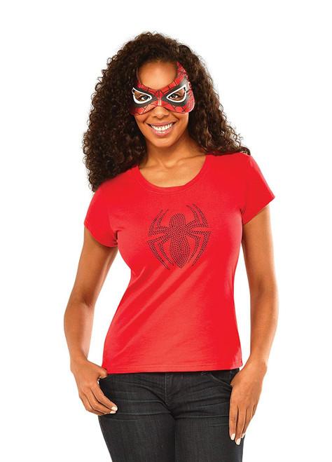 Marvel Rubie's Women's Universe Spider-Girl Rhinestone T Shirt