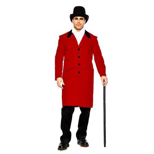 Seeing Red Adult Men's Greatest Showman Circus Halloween Costume Jacket Coat