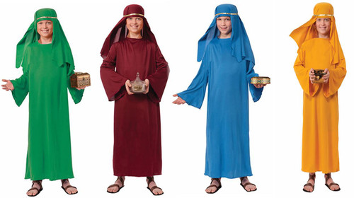 Wiseman Robe & Headpiece Kids Costume