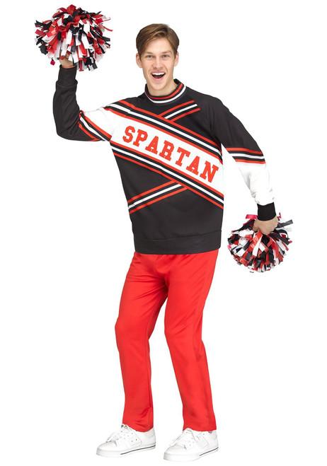 Mens Deluxe Spartan Cheerleader Funny SNL Costume