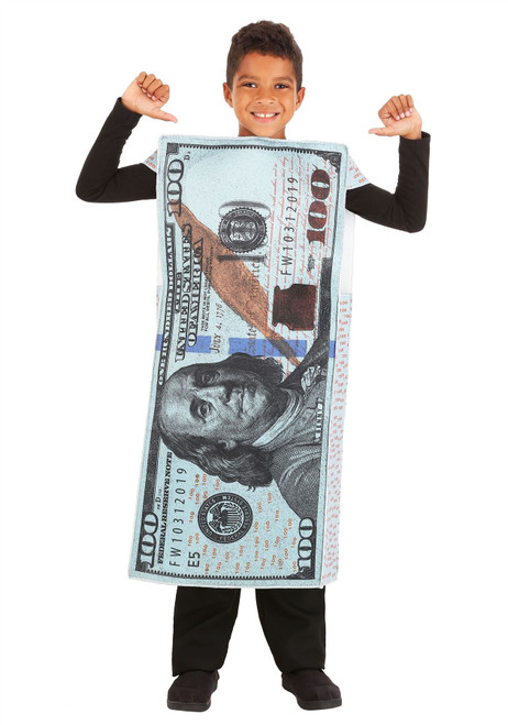 Fun World Kids 100 Dollar Bill Costume