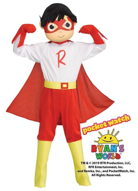 Kids Ryan's World Red Titan Toddler Boys Costume Size