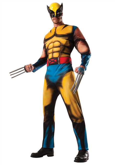 X-Men Wolverine Comic Deluxe Muscle Adult Costume