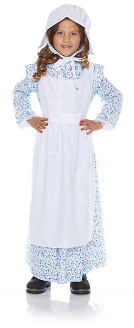 Prairie Girl Child Pilgrim Pioneer Frontier Halloween Costume