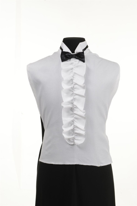 Shirt Front Ruffled Black Bow Tie
