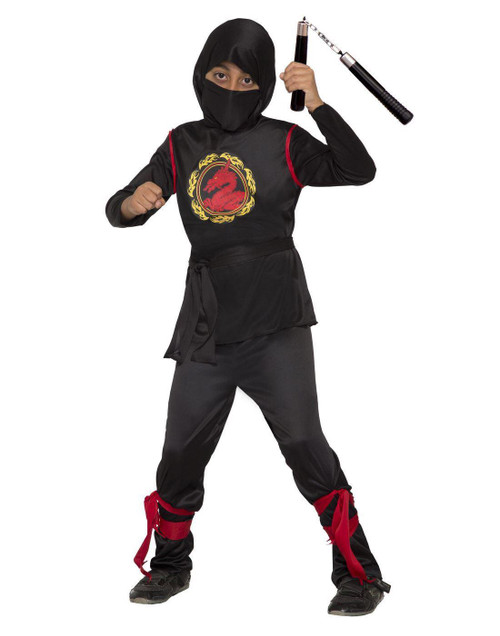 Dragon Ninja Warrior Assassin Boys Child Halloween Costume