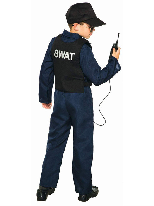 Forum Novelties Swat Jumpsuit Child Costume With Cap