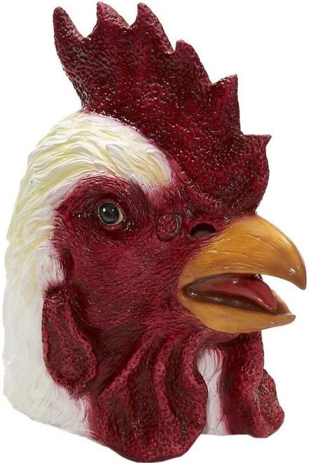 Deluxe Rubber Chicken Mask Rooster Full Head Latex Animal Costume Bird Mascot Miami Hotline