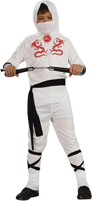 Haunted House Child's White Ninja Costume