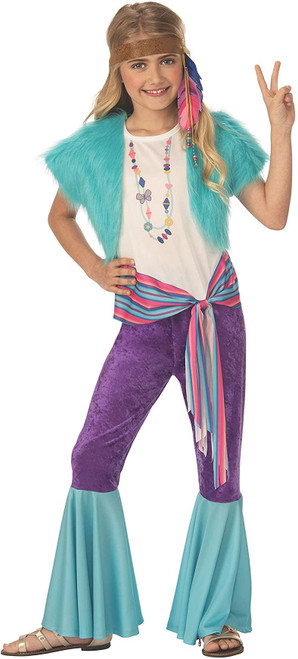 Rubie's Costume Hippy Girl Childs 60s Costume