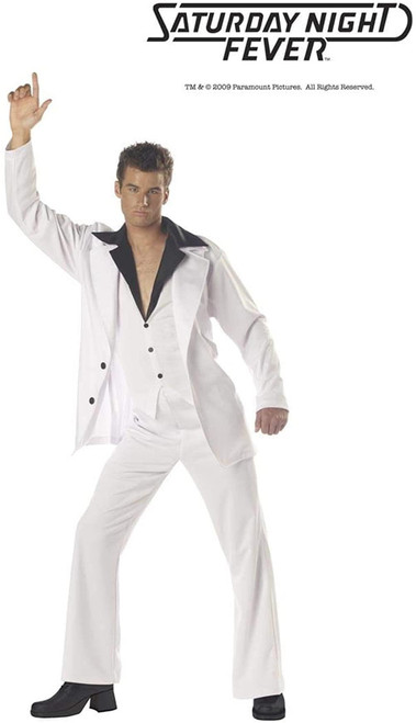 Men's Saturday Night Fever Costume Disco Dude