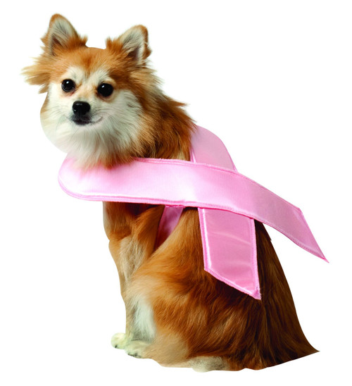 Pink Ribbon Susan G Coman Breast Cancer Dog Costume