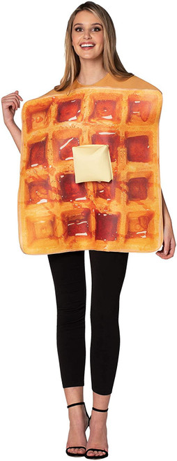Get Real Waffle and Butter Food Funny Mens Womens Unisex Halloween Food Costume