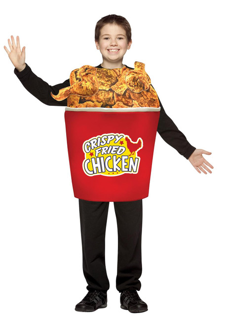 Bucket of Fried Chicken Costume for Kids Size 7-10